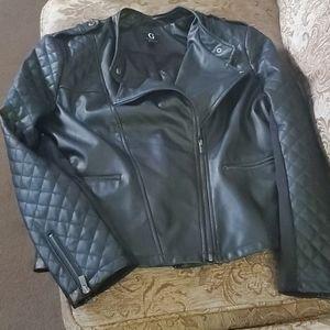 Faux Leather Jacket XL